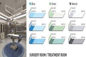 pola warna vinyl lantai rumah sakit